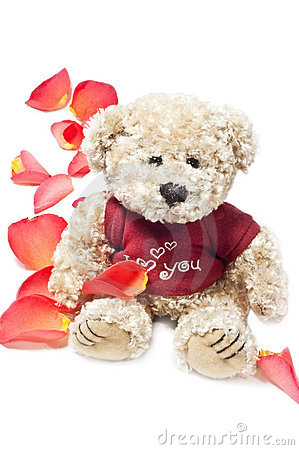 Free BEAR IN PETALS Stock Images - 12405714