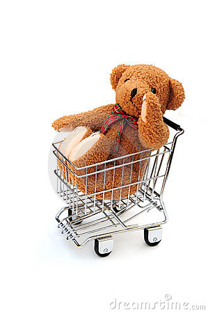 Free Bear In Trolley Royalty Free Stock Photo - 15214895