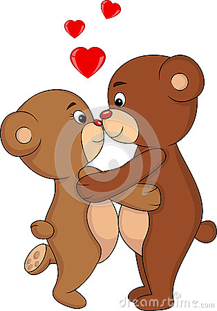 Free Bear Kissing Royalty Free Stock Photo - 28862025
