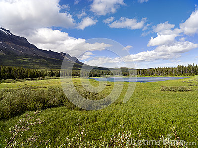 Bear Lake and wide meadow