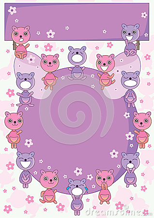 Bear Land Circle Card_eps