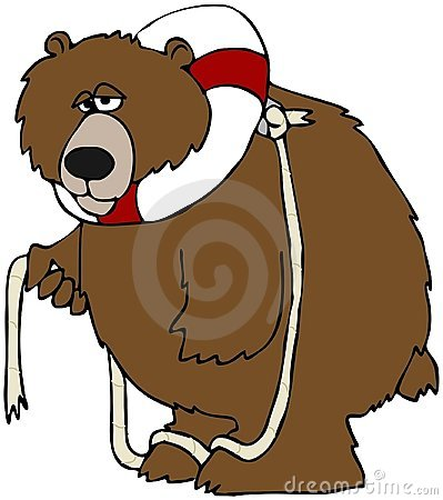 Bear With A Life Preserver