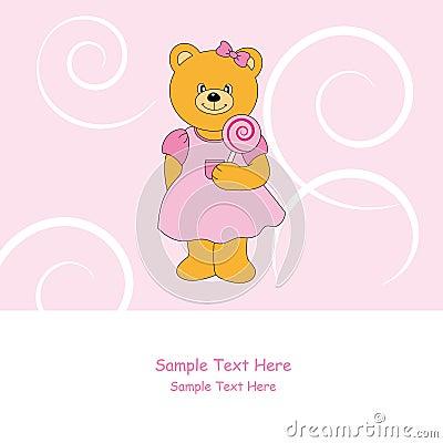 Bear with lollipop