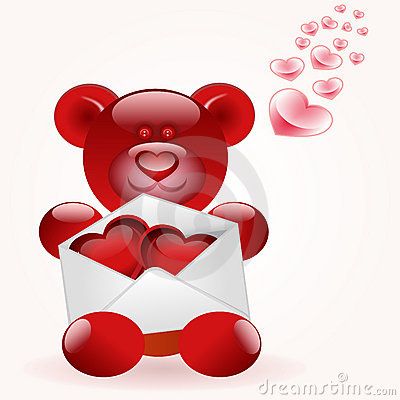 Bear with love letter