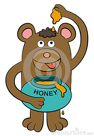 Bear loves honey
