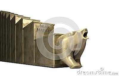 Bear Market Trend Cast In Gold