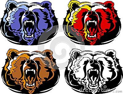 Bear Mascot Vector Logo