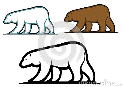 Bear mascots in cartoon style