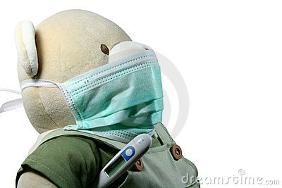 Bear with mask