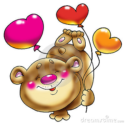Free Bear On A Paw With Balloons. Stock Photography - 2089692