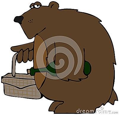 Bear On A Picnic