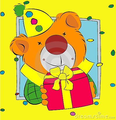 Bear presenting a gift