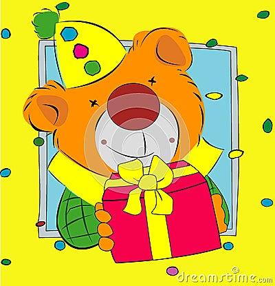 Bear presenting a gift