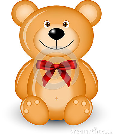 Bear with red bow