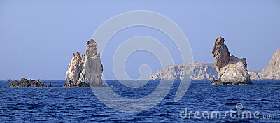 Bear rock formations of Milos