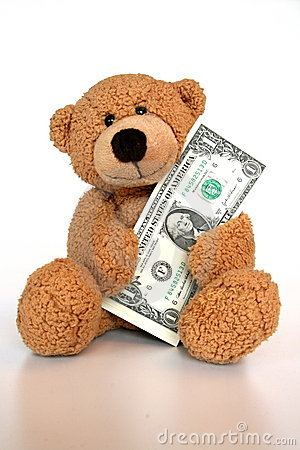 Bear saving money