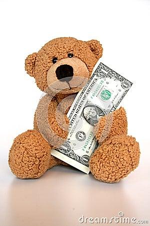 Free Bear Saving Money Stock Images - 8229454