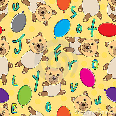 Bear Seamless Pattern_eps