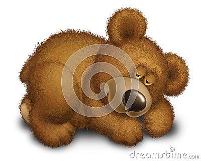 Bear sleeps