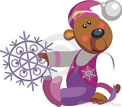 Bear with snowflakel color 10