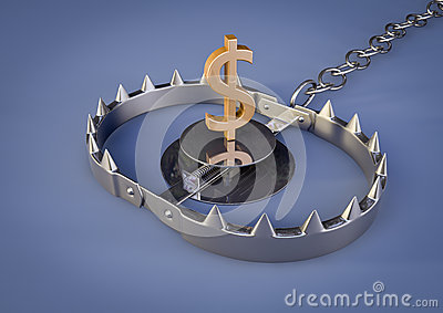 Bear trap with dollar
