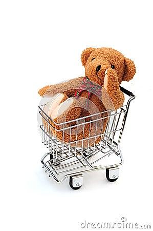 Bear in trolley