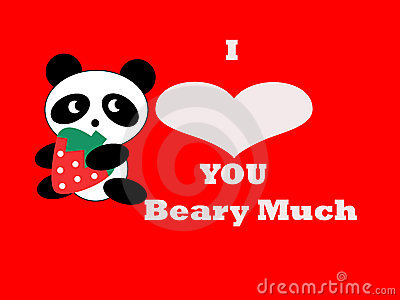 Bear Valentine Card Illustration