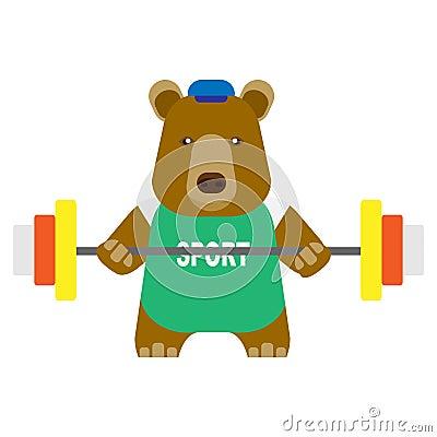 Bear weightlifter