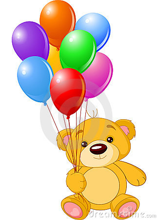 Free Bear With Balloons Royalty Free Stock Image - 13251596