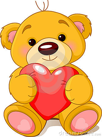Free Bear With Heart Royalty Free Stock Images - 12705489