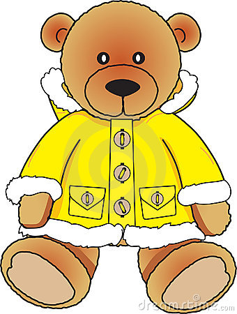 Bear in yellow fur coat