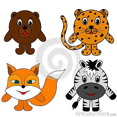 Free Bear Zebra Fox Cheetah Stock Photography - 126659512