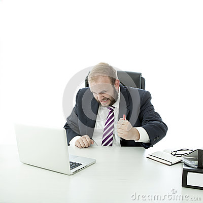Beard business man is frustrated