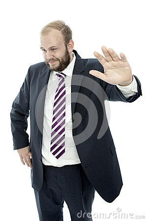 Beard business man unsuspecting white background