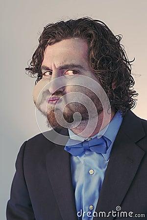 Free Bearded Man Holding Breath Royalty Free Stock Photos - 65672968
