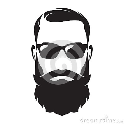 Free Bearded Man S Face, Hipster Character. Fashion Silhouette, Avata Royalty Free Stock Photos - 105106698
