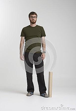Bearded man standing in studio 01A