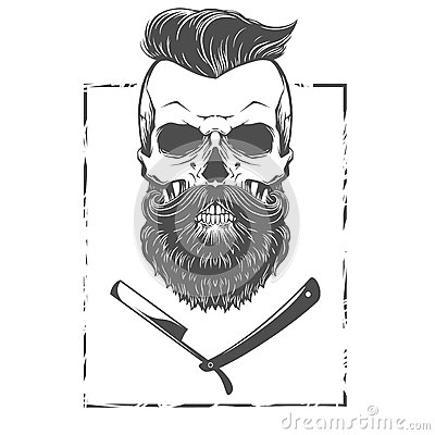 Free Bearded Skull Illustration Royalty Free Stock Photo - 65505865