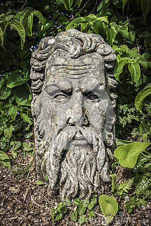 Bearded Stone Head