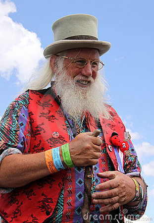 Bearded story teller at Guilfest Festival Editorial Photo