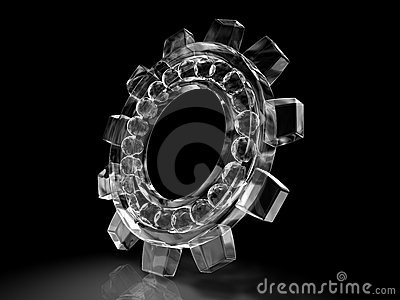 Bearing gear of ice