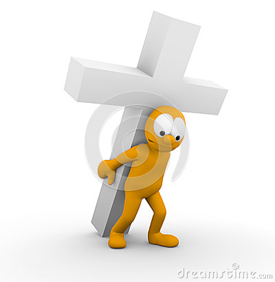 Bearing a heavy cross