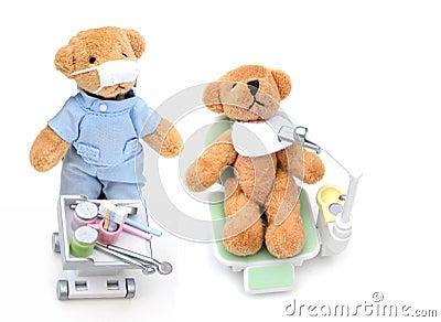 Bears at the dentist