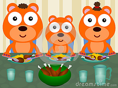 Bears eat together