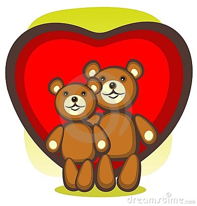 Bears and heart