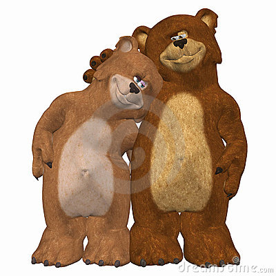 Free Bears In Love Royalty Free Stock Photography - 4157967