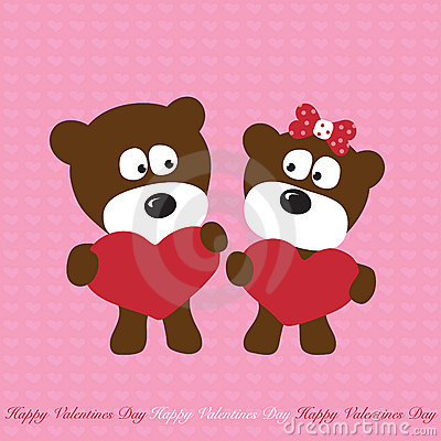 Free Bears In Love Stock Photography - 8504392