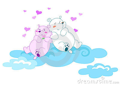 Bears in love 2- vectorial illustration