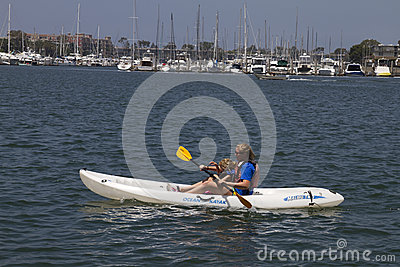 Beat The Heat Kayaking In California Editorial Image