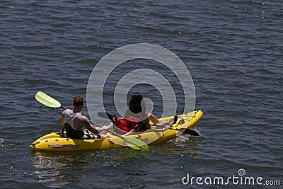 Beat The Heat Kayaking In California Editorial Photo